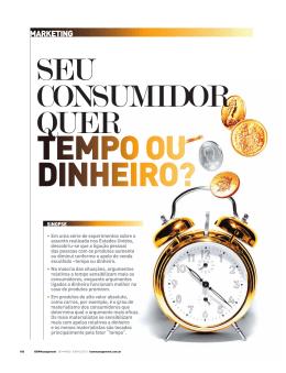 Seu consumidor quer tempo ou dinheiro?