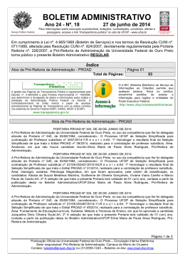 Boletim Administrativo nº 18 2014 - proad
