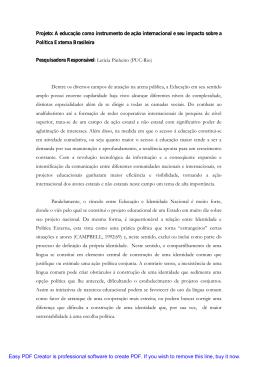 documento - Agendas e atores de política externa