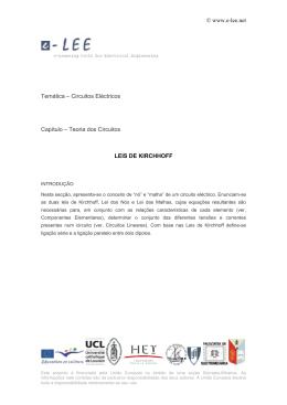 www.e-lee.net Temática – Circuitos Eléctricos Capítulo - e