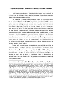 Teses e dissertações sobre a última ditadura militar no - PUC-SP