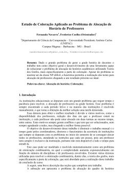 Estudo de Coloração Aplicado ao Problema de Alocação