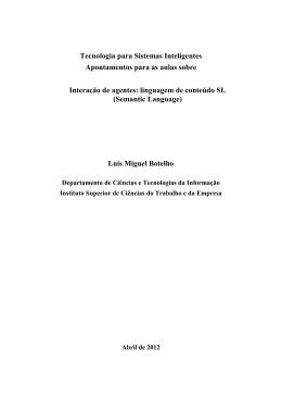 Interação de agentes: linguagem de conteúdo SL