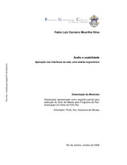 Fabio Luiz Carneiro Mourilhe Silva Áudio e usabilidade