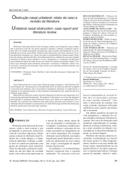 Obstrução nasal unilateral: relato de caso e revisão da