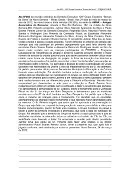 Ata 002 - Diretoria Executiva 120º Grupo Escoteiro