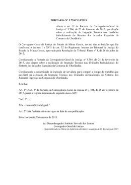 PORTARIA Nº 155/CGJ/2005 - Tribunal de Justiça de Minas Gerais