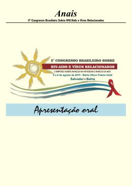 Anais - Congresso de Hiv/Aids e vírus relacionados.