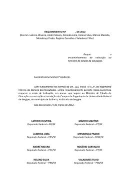 Dos Srs. Laércio Oliveira, André Moura, Almeida Lima, Heleno Silva