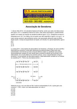 Eletrodinâmica – Associação de Geradores