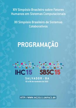 Programação Detalhada do Evento - IHC e SBSC