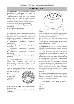embriologia - Vestibular