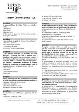 tecnico em radiologia - Universidade Patativa do Assaré