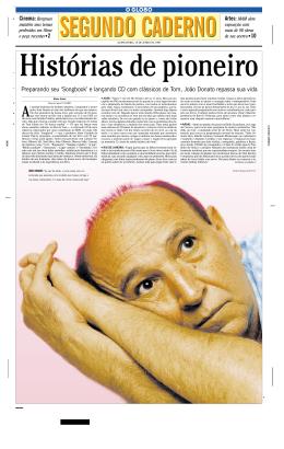 O Globo, 10/06/1999HIstórias de pioneiro