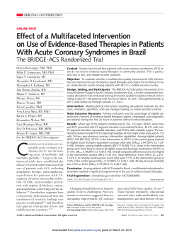 Effect of a Multifaceted Intervention on Use of Evidence
