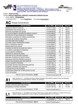AC Ampla Concorrência - Uff - Universidade Federal Fluminense
