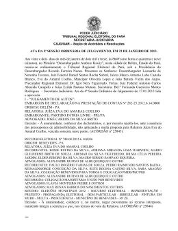 ata da 90ª sessão ordinária administrativa, em 06 de dezembro de