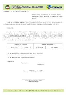 153 - PORTARIA - LICENÇA PREMIO