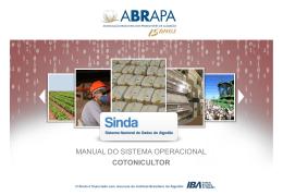 Manual do Sistema Operacional (Cotonicultor) - pdf
