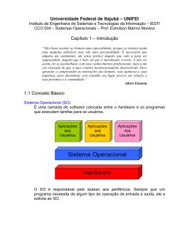 Hardware Sistema Operacional