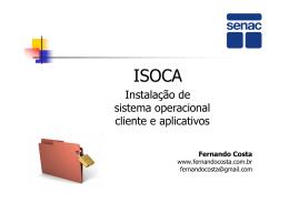Instalação de sistema operacional cliente e