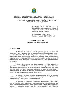 COMISSÃO DE CONSTITUIÇÃO E JUSTIÇA E DE CIDADANIA