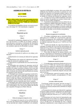 Lei n.º 3/2009 - Segurança Social
