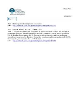 15/08/2015 Título : Tutmés quer saída para prejuízo aos usuários