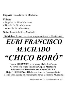 EURI FRANCISCO MACHADO