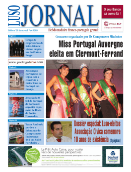 Miss Portugal Auvergne eleita em Clermont-Ferrand