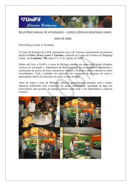 CURSO CIÊNCIAS BIOLÓGIAS UNIFIL ANO DE 2008 Feira Pesca