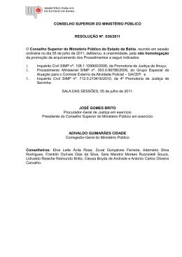 036/2011 - Portal - Ministério Público do Estado da Bahia