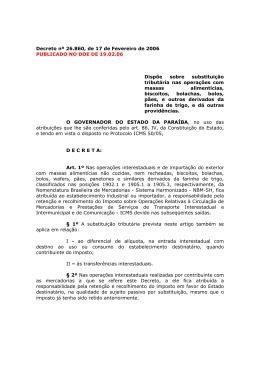 Decreto nº 26.860, de 17 de Fevereiro de 2006