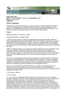 APELACÃO CÍVEL DATA: 16/9/1991 FONTE: 012865-0/0