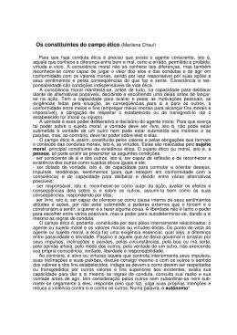 Os constituintes do campo ético (Marilena Chauí)