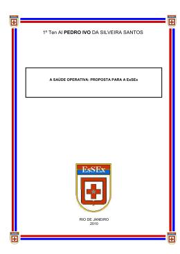TCC - 1º Ten Al Pedro Ivo - Escola de Saúde do Exército