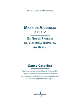 Santa Catarina - Mapa da Violência