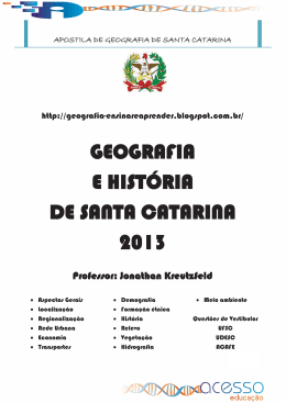 APOSTILA DE GEOGRAFIA DE SANTA CATARINA