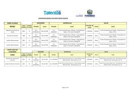Cronograma 2 trim 2013 Novos Talentos SENAC 29.05.2013