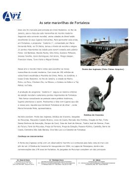 As sete maravilhas de Fortaleza (Data do jornal 02 outubro)