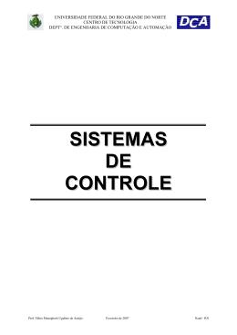 SISTEMAS DE CONTROLE - DCA
