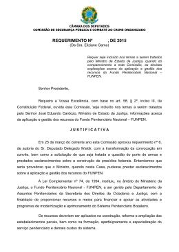 REQUERIMENTO Nº , DE 2008