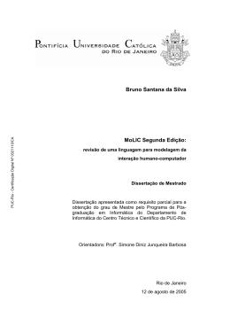 Bruno Santana da Silva MoLIC Segunda Edição: - Maxwell - PUC-Rio