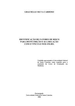 gracielle silva cardoso identificação de fatores de risco para