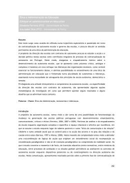 Ética e Administração da Educação Ethique et administration