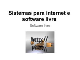 Sistemas para internet e software livre