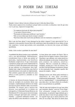 Artigo - O poder das ideias