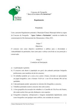 Regulamento - Câmara Municipal Vila Nova de Poiares