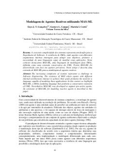 Modelagem de Agentes Reativos utilizando MASML