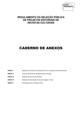 CADERNO DE ANEXOS - Ministério da Cultura